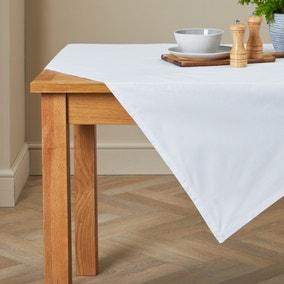 Plain White Rectangle Tablecloth