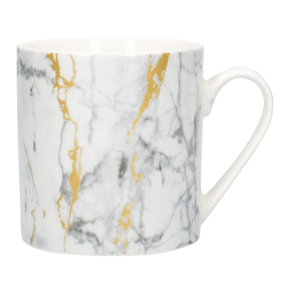 Marble and Gold Effect Mug MultiColoured