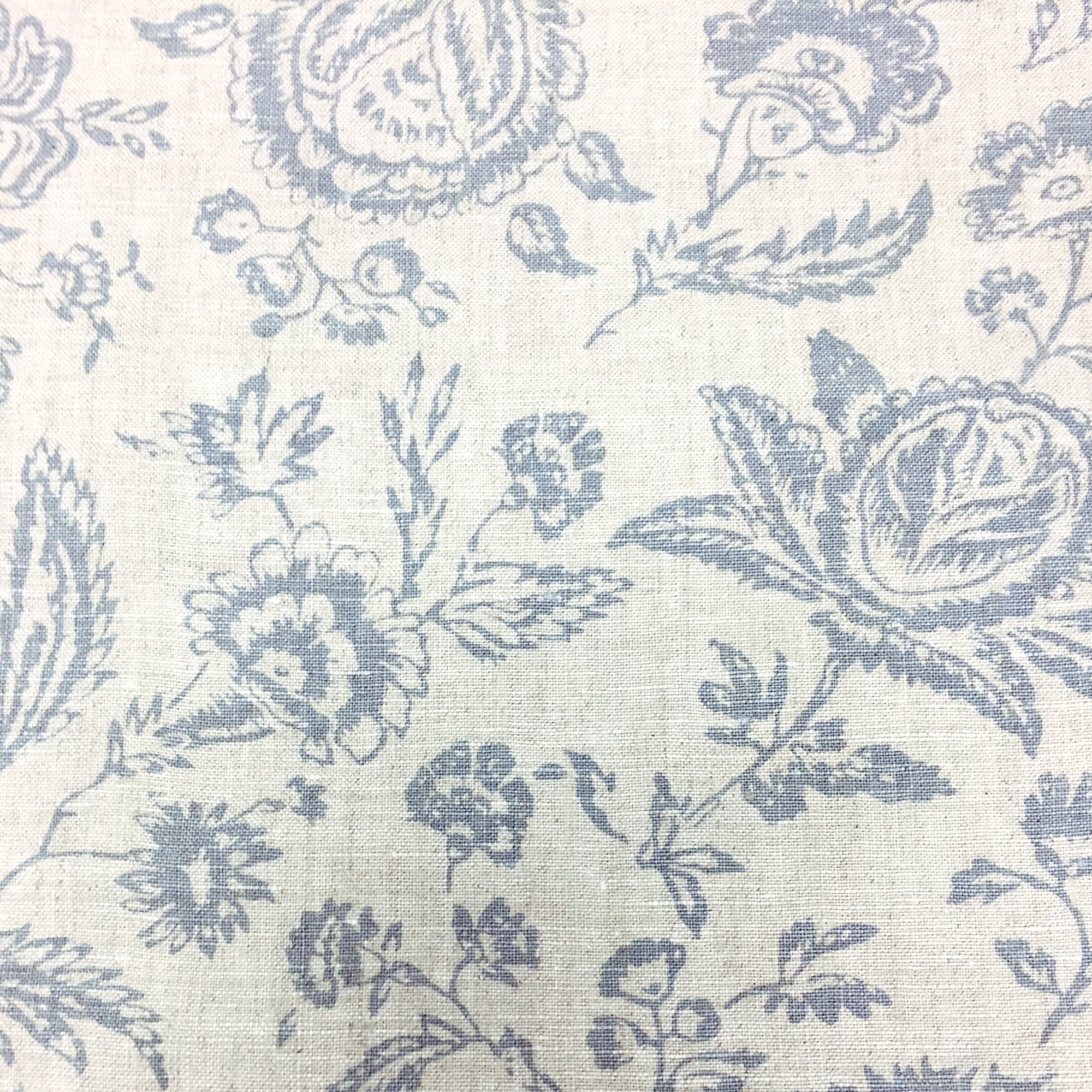 Photo of Cabbages & roses provence toile blue fabric black and white