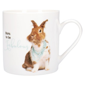 Fun Rabbit Slogan Mug