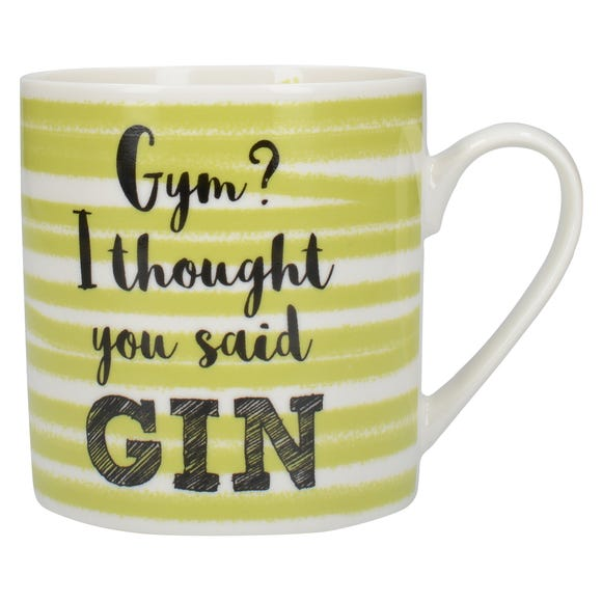 Gym I Thought You Said Gin Mug MultiColoured