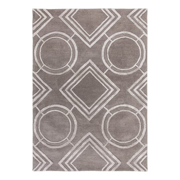 5A Fifth Avenue Silver Geo Rug  undefined
