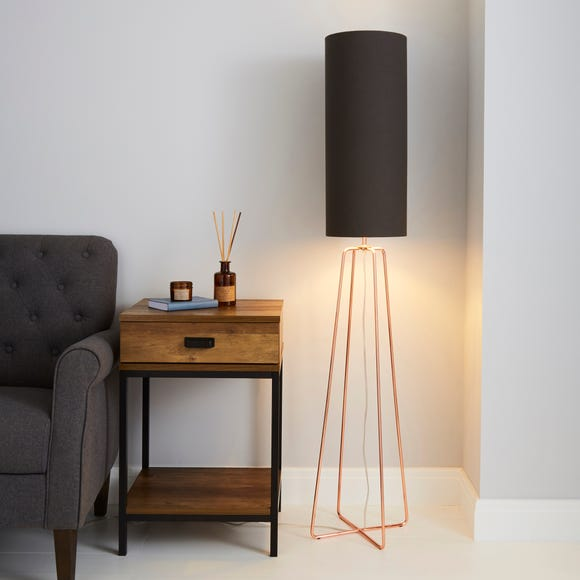 Hester Charcoal Floor Lamp Charcoal (Grey)