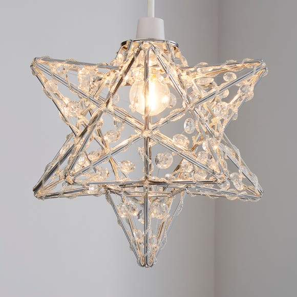 Star Chrome Easy Fit Pendant Clear