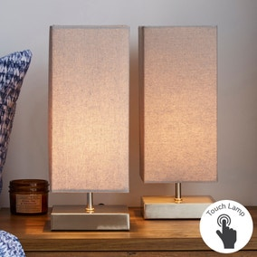 Charlotte Grey Touch Dimmable Table Lamps