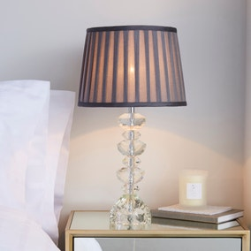 Dorma Genevieve Crystal Candlestick Table Lamp
