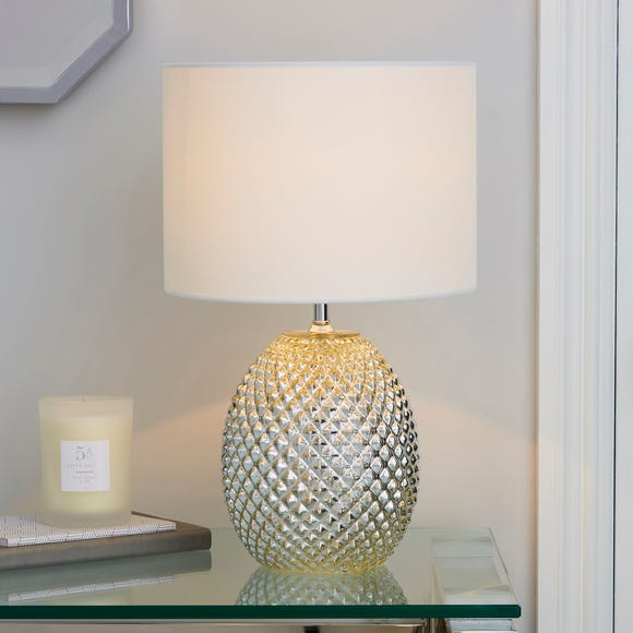 Kelso Mercury Glass Table Lamp Champagne