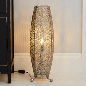 Manila Moroccan 60cm Chrome Floor Lamp