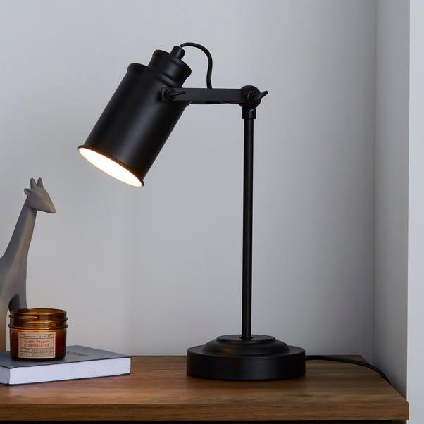 Healy Black Industrial Table Lamp Black