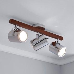 Carlton 3 Light Chrome Spotlight Bar