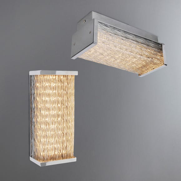Waseca Integrated LED Bathroom Wall Light or Ceiling Fitting Silver