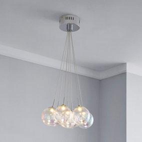 Elmira 7 Light Bubble Glass Cluster Ceiling Fitting