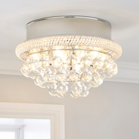 Edna Glam Integrated LED Glass Droplets Flush Ceiling Fitting