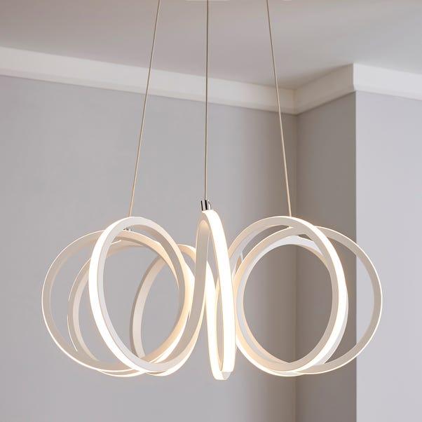 Harper Integrated LED Swirl White Ceiling Fitting White