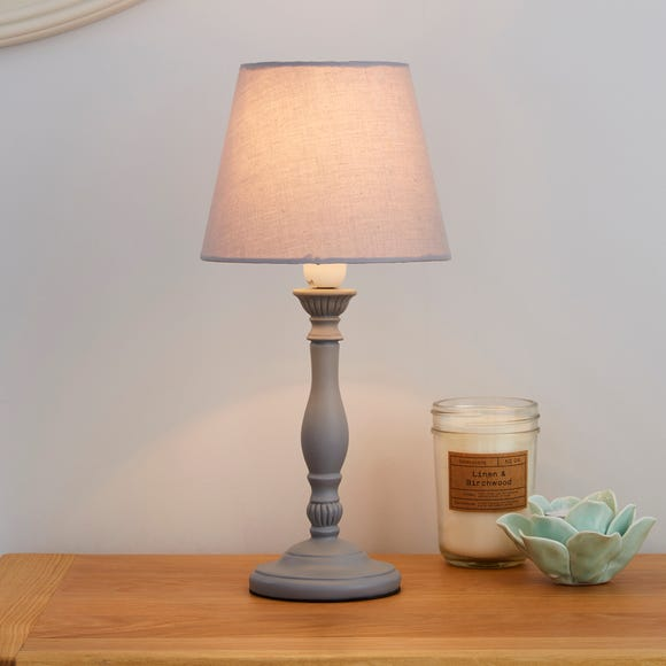 Tofty Grey Table Lamp Grey