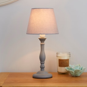 Tofty Grey Table Lamp