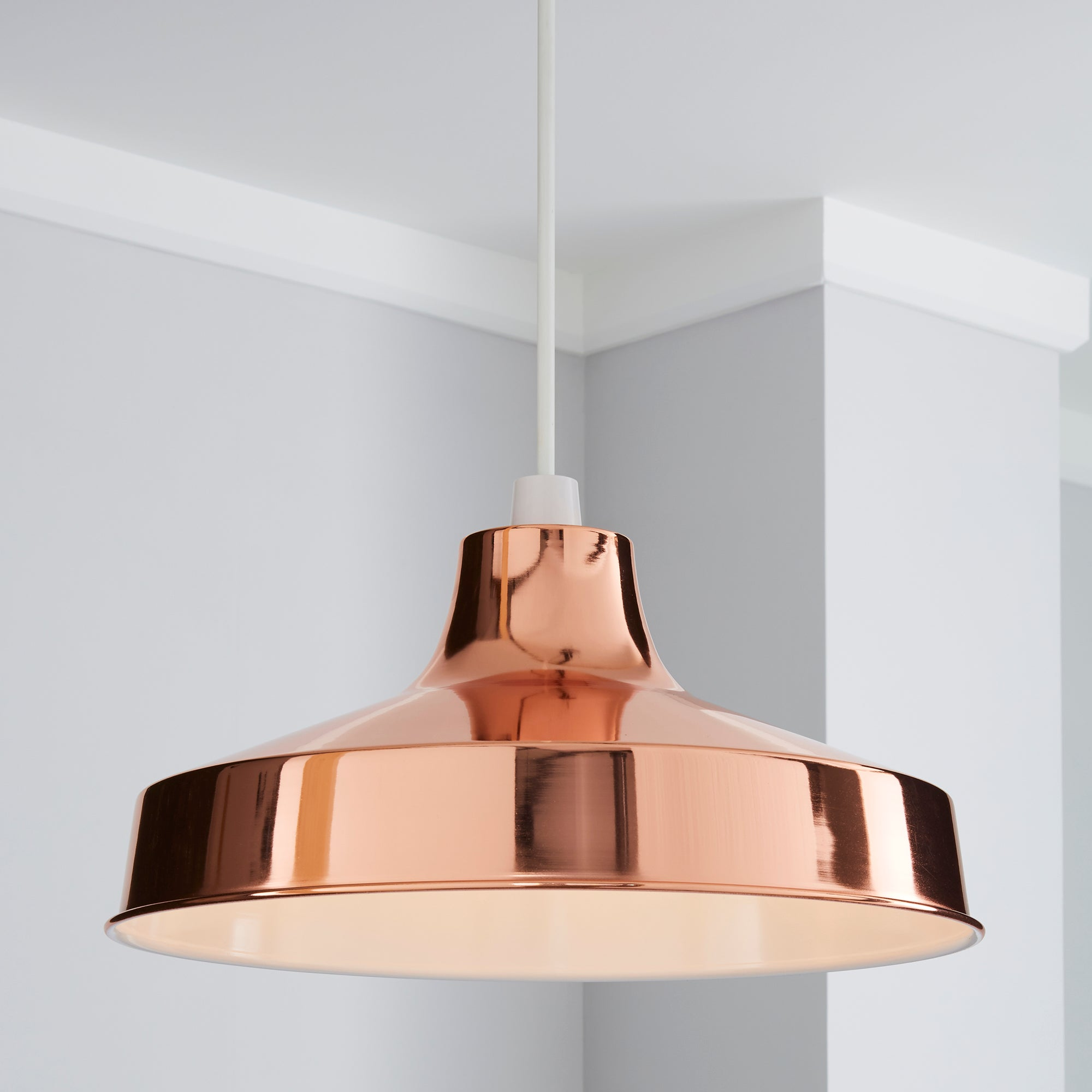 Click to view product details and reviews for Stern 39cm Copper Easy Fit Pendant Copper Brown.