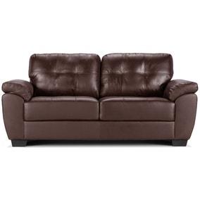 Brisbane 3 Seater Leather Sofa