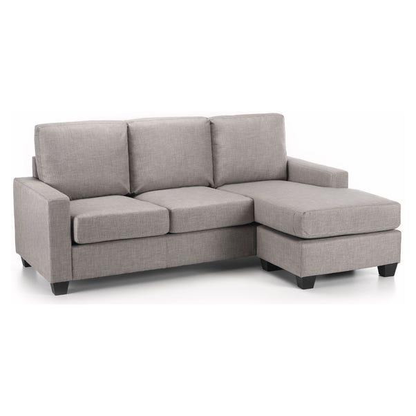Carla Reversible Fabric Corner Chaise Sofa Grey Carla