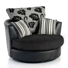 Lush Jumbo Cord Swivel Chair