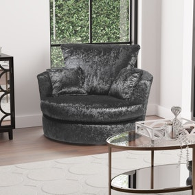 Michigan Crushed Velvet Swivel Chair