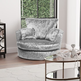 Michigan Crushed Velvet Swivel Chair