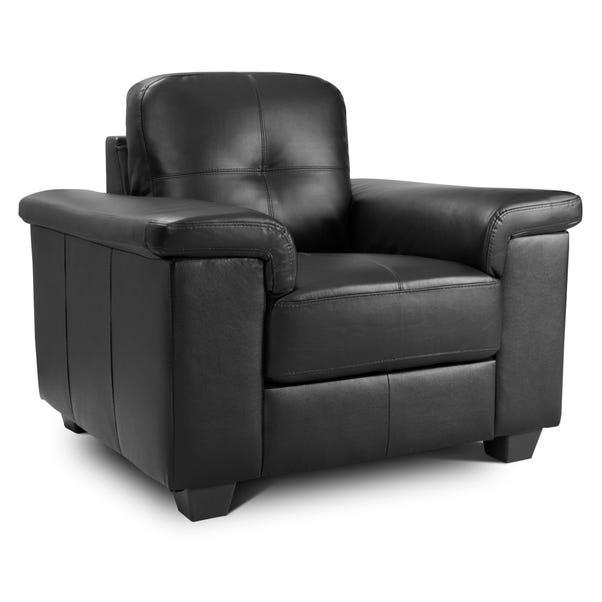Ravello Leather Armchair - Black Black