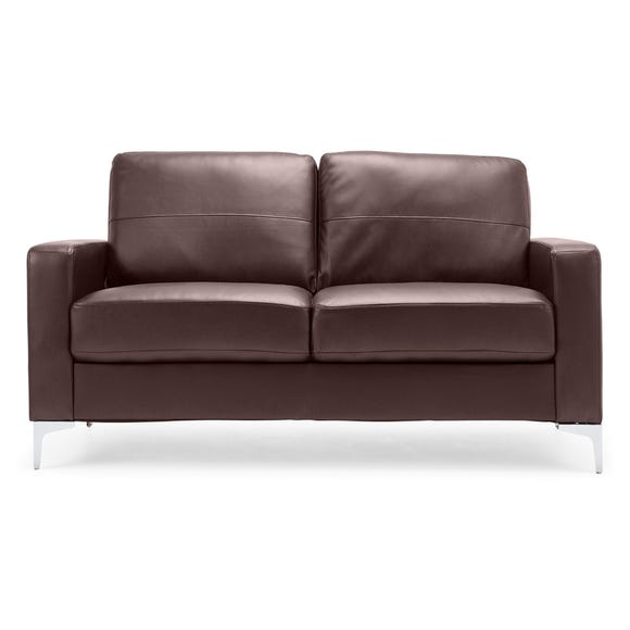 Tuscany 2 Seater Faux Leather Sofa Brown