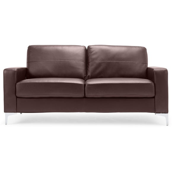 Tuscany 3 Seater Faux Leather Sofa Brown