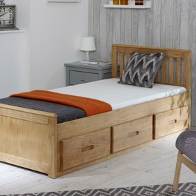 Mission Waxed Pine Storage Bed