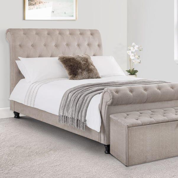Ravello Upholstered Bed Frame Mink undefined