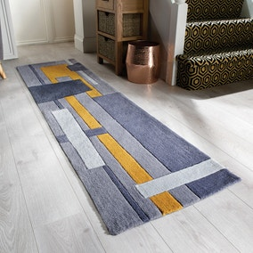 Elements Farg Abstract Ochre Runner