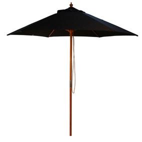 Black Wood Pulley 2.5m Parasol
