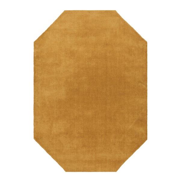 Boston Wool Border Hexagon Rug Ochre undefined