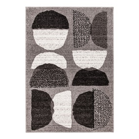 Elements Grey Alton Geometric Rug