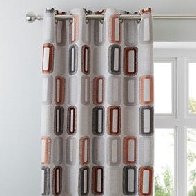 Elements Dahl Rust Eyelet Curtains
