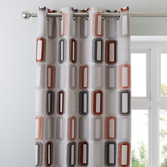 Elements Dahl Rust Eyelet Curtains  undefined