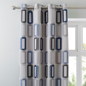 Elements Dahl Blue Eyelet Curtains