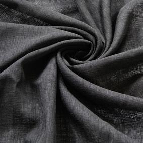 Linen Look Black Fabric