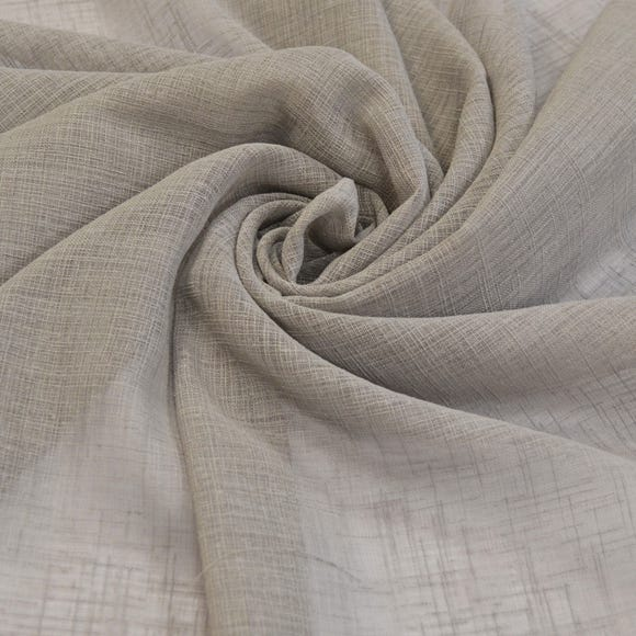 Linen Look Grey Fabric