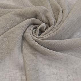 Linen Look Grey Fabric