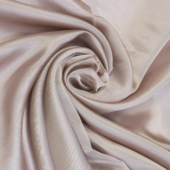 Bella Dusky Pink Voile Fabric