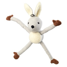 Tweed Grey Rabbit Dog Toy