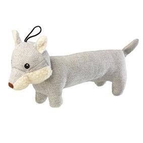 Tweed Grey Fox Dog Toy