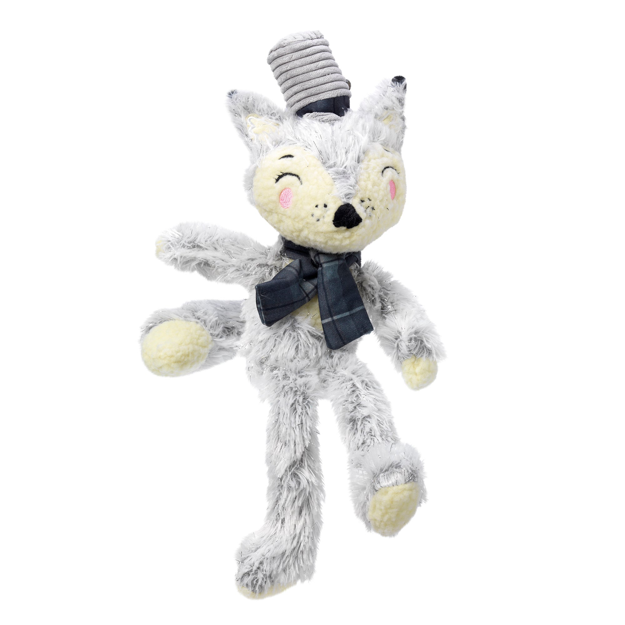 Winter Woodland Charlie Fox Dog Toy Grey