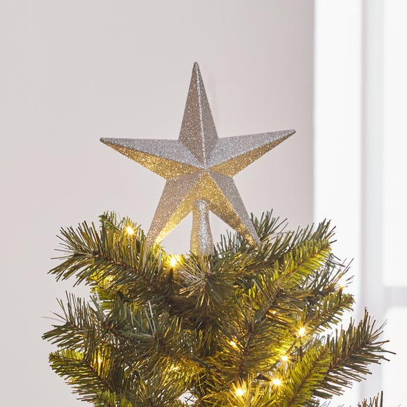 Silver Star Tree Topper Silver
