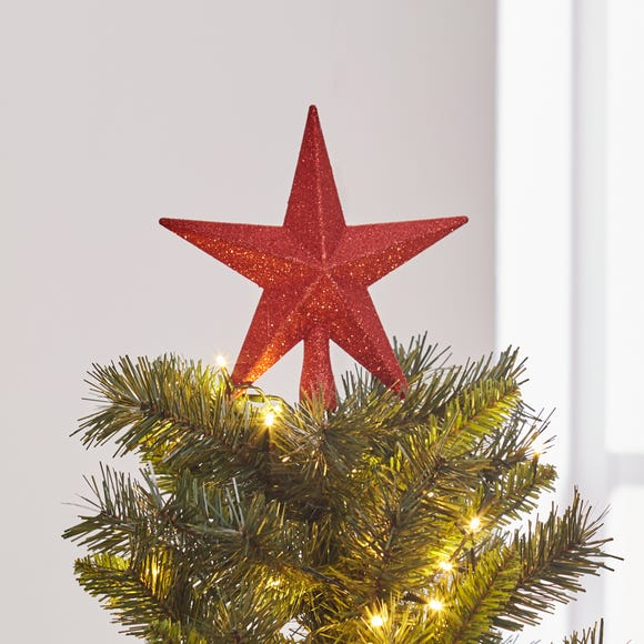 Star Red Tree Topper Red