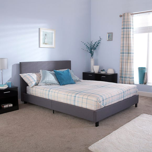 Upholstered Silver Bed in a Box Silver undefined
