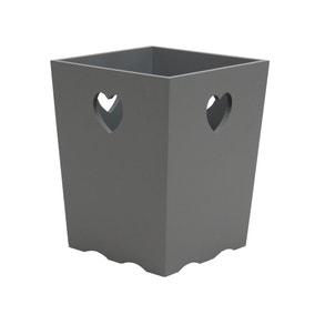 Grey Heart Bin