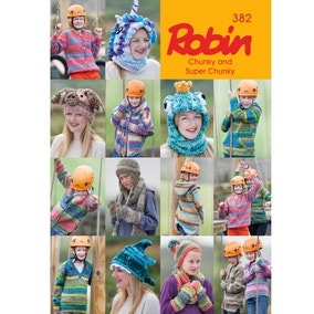 Robin 382 Chunky and Super Chunky Pattern Book